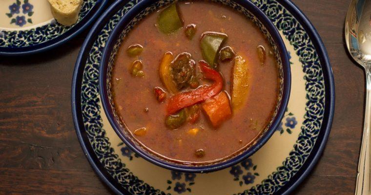 Węgiersko-Czeska zupa gulaszowa
